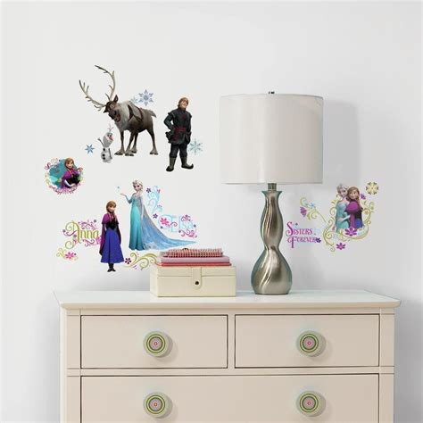Wall Applique roommates disney frozen peel and stick wall decals