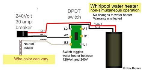 wire water heater   switches