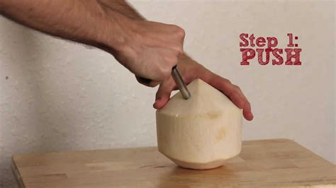 how to open a coconut how to open a coconut cocodrill young coconut tool extracts coco water youtube