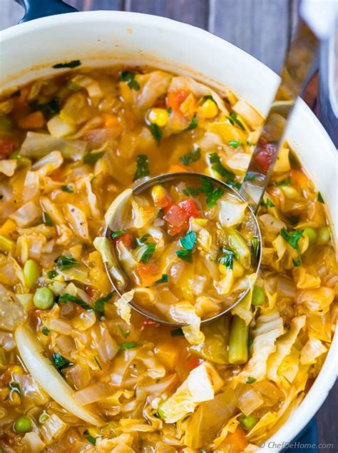 best vegetable soup recipes vegetarian cabbage soup recipe chefdehome