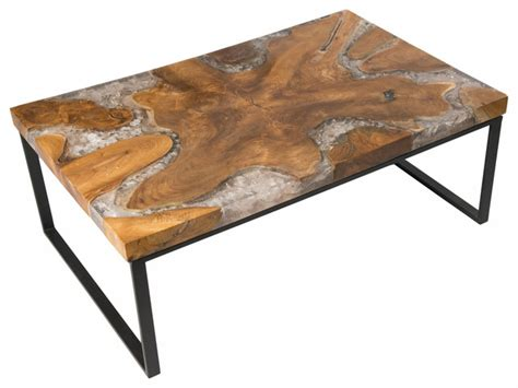 white distressed coffee table steve silver dining room furniture cracked resin coffee