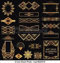 art deco design Art deco vintage frames and design elements - in vector.