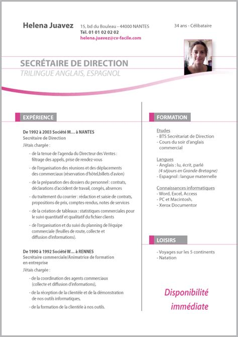 Modele Cv Facile by Cv Etudiant Facile