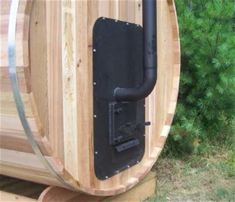 red cedar barrel sauna  dundalk canada barrel