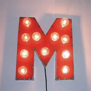 17 best images about red letters on pinterest industrial With letter m light