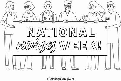 Coloring National Nurses Nurse Week Ehob Printable