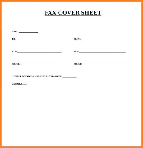 4 free fax cover sheet pdf excel word how to write