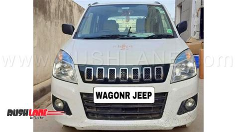maruti wagonr owner installs jeep compass inspired grille