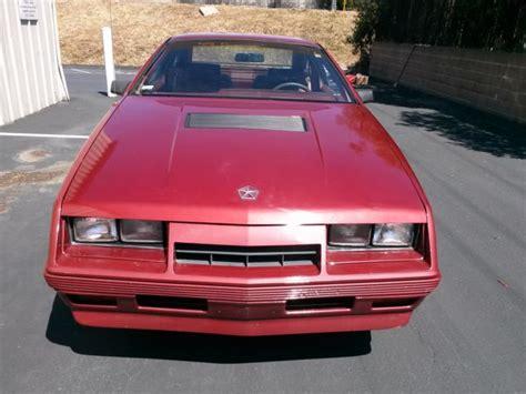 laser chrysler 1984 turbo owner 5spd