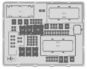 Cadillac Cts  2017  - Fuse Box Diagram