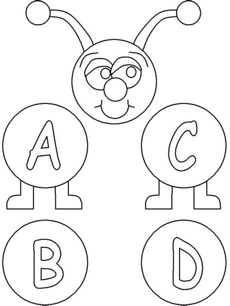 abc coloring pages  coloring pages  print