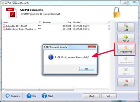 how to remove password protection for a batch of pdf files by using a pdf password security a