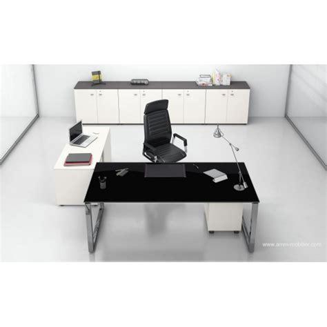 fabricant canape italien bureau direction 5th elément finition verre noir fabricant las