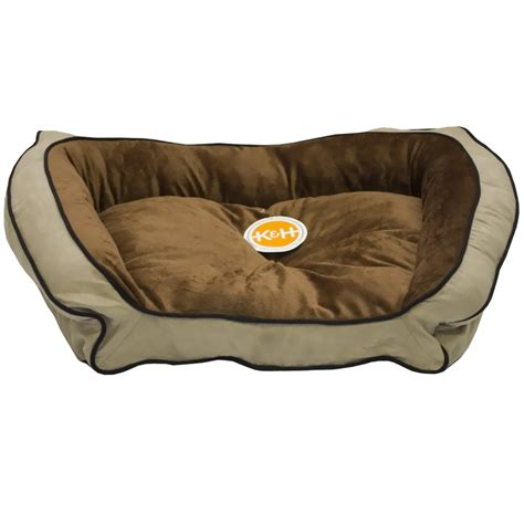 k h bolster couch pet bed mocha tan large 28 quot x40 quot