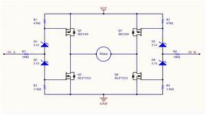 Motor Driver Circuit Using Mosfet