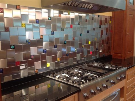 colorful kitchen backsplashes colorful glass accent tiles in backsplash by uneek glass
