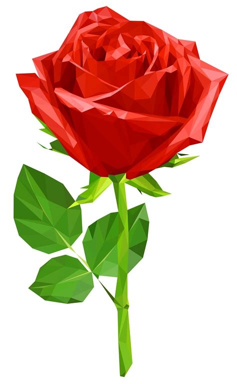 crystal red rose transparent png clip art image gallery