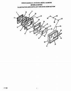 Roper Range  Gas  Oven Door Parts