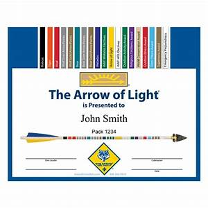 arrow of light kit everything you need to make your With arrow of light certificate template
