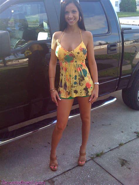 Busty Amateur Latina Model Janessa Brazil Personal Pics