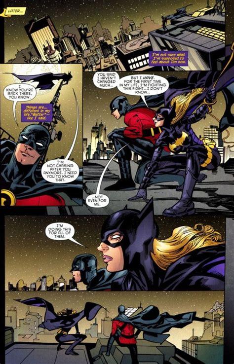 love reunion  batgirl  red robin batgirl comics tim drake red robin