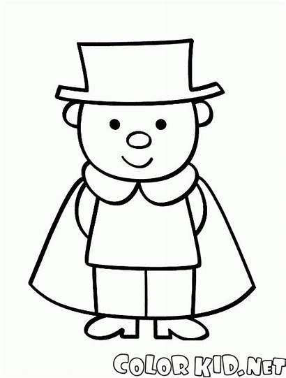 Coloring Trendy Pages Hat Boy Wearing Colorkid