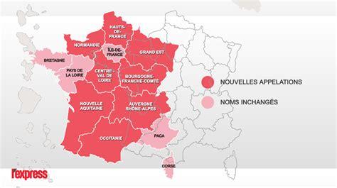 Nouvelle Carte De Par Region by Carte Les Noms Des 13 Nouvelles R 233 Gions Officiellement