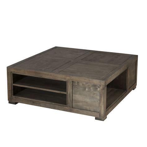 table basse carr 233 e avec niches de rangement dpi import