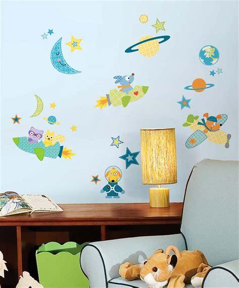 Wandtattoo Kinderzimmer Planeten by Wandsticker Planeten Raketen Hund Tapetenwelt