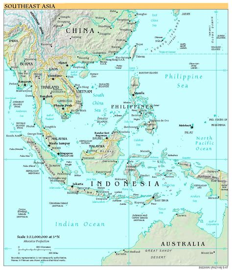 high resolution map  southeast asia