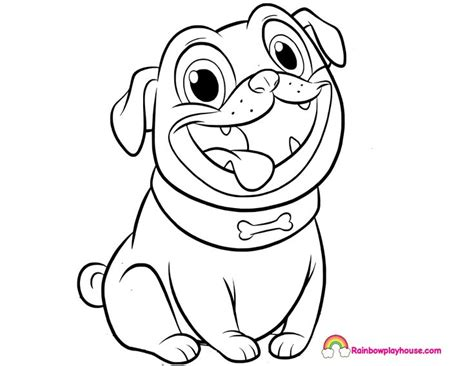 puppy dog pals rolly printable coloring page rainbow