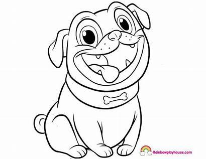 Pals Puppy Coloring Dog Rolly Bingo Rainbow
