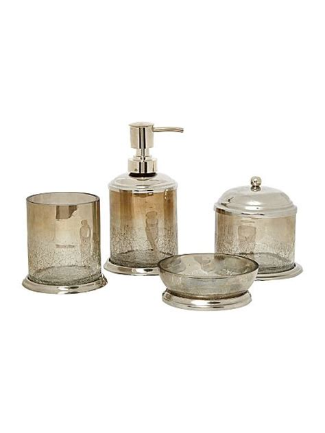 Crackle Glass Bathroom Accessories by Linea Linea Crackle Glass Bathroom Accessories House Of