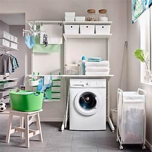 Ikea Decke Weiß : eine waschk che mit algot aufbewahrung die vom boden bis ~ Michelbontemps.com Haus und Dekorationen
