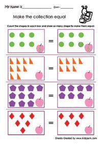 image result  equal   equal worksheet