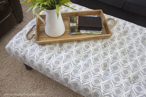 DIY Tufted Fabric Ottoman (( from an old table))   Make