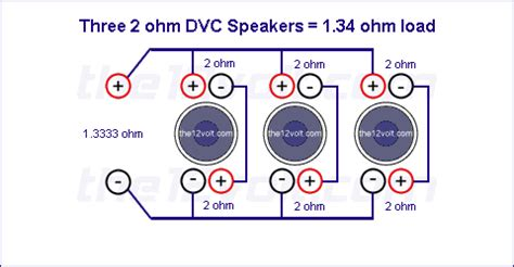 Subwoofer Wiring Diagrams Three Ohm Dual Voice Coil