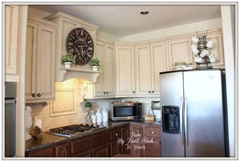 using chalk paint on kitchen cabinets creating a french country kitchen cabinet finish using 187
