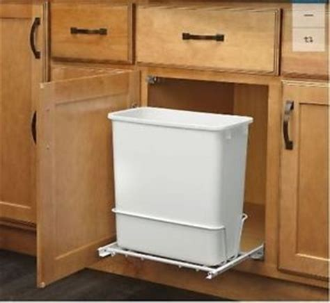 kitchen sink garbage can plastic garbage bin rev a shelf 20 quart for pull out 8695