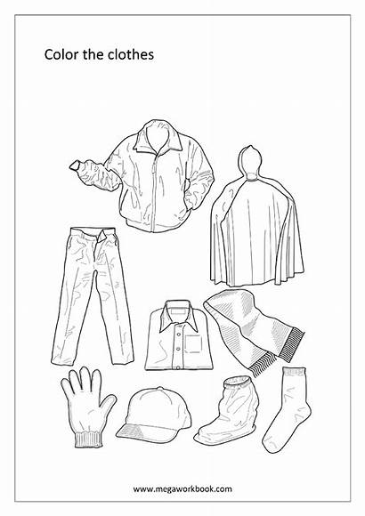 Coloring Miscellaneous Clothes Sheet Sheets Megaworkbook