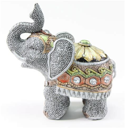 Elephant Home Decor by Feng Shui 5 Quot Gray Elephant Trunk Statue Lucky Figurine