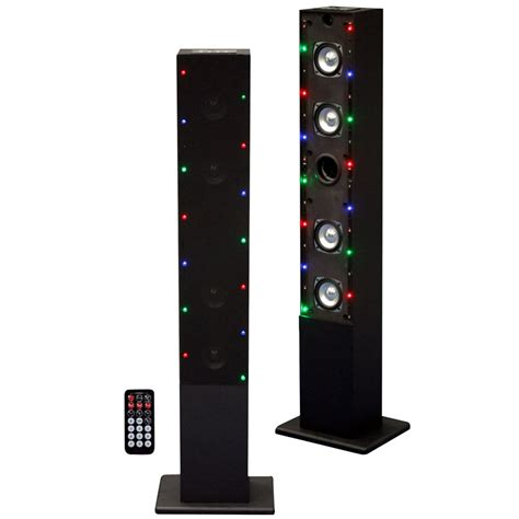 speakers with lights craig 97080715m tower speaker system with flash light fm