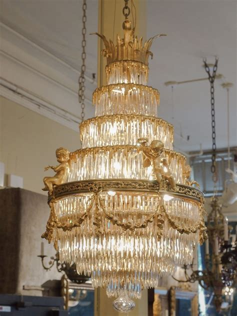 from a chandelier antique baccarat waterfall chandelier