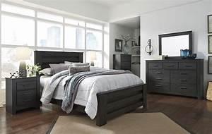 Brinxton black poster bedroom set from ashley coleman for Bedroom furniture sets b q