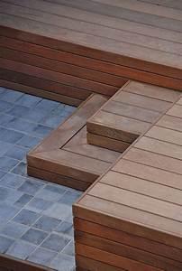 terrasse bois et pierre With amenager un jardin en longueur 12 dalle terrasse pierre aspect bois noir