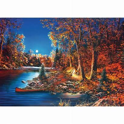 Autumn Jigsaw Puzzles Fall Mist Ushering Stunning
