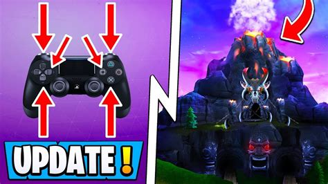 fortnite update  info volcano sound effects