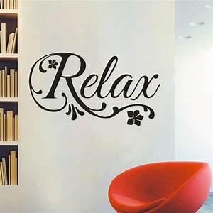 ᐂRelax Swirls Flower ⑦ Decal Decal Art Vinyl Wall Sticker