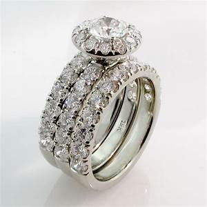 Custom wedding rings bridal sets engagement rings for Personalized wedding rings
