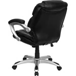 leather mid back office computer chair black walmart com